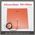 3d impressora de cama aquecida heatbed 300*300mm, 220 V, NTC 100 K Termistor, Aquecedor De Silicone com adesivo M3, boa Qualidade