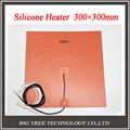 3d printer heated bed heatbed 300*300mm, 220V, NTC 100K Thermistor, Silicone Heater with M3 sticker, Good Quality