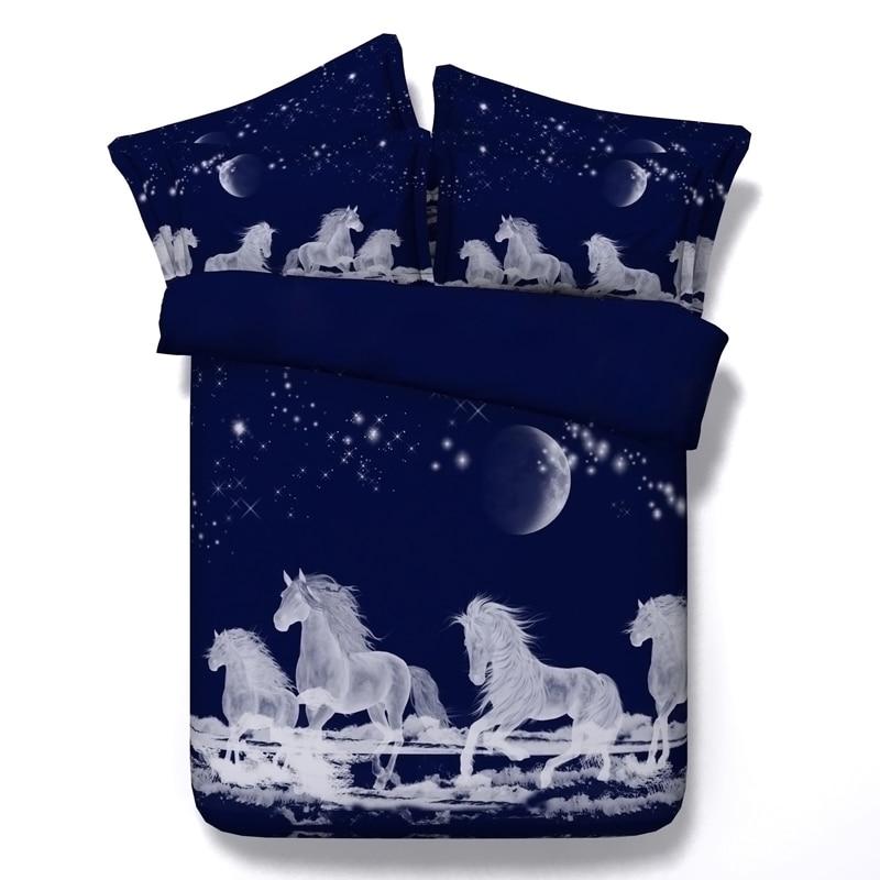5 pz matrimoniale/pieno/regina/re/super king size 100% cotone 3d animal giraffe owl unicorno biancheria da letto di cane insieme con ripieno di trasporto libero