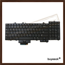 Original Black Laptop Replacement US English Keyboard For DELL Precision M6400 M6500 Keyboard Tested Well With Backlight