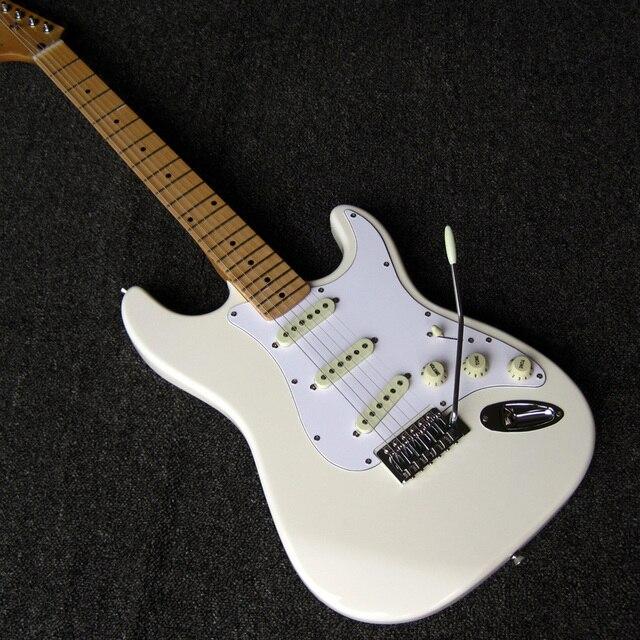 Risadinha Assinatura Jimi Hendrix guitare Olímpica Reverso Branco Cabeça ST Guitarras Elétricas frete grátis