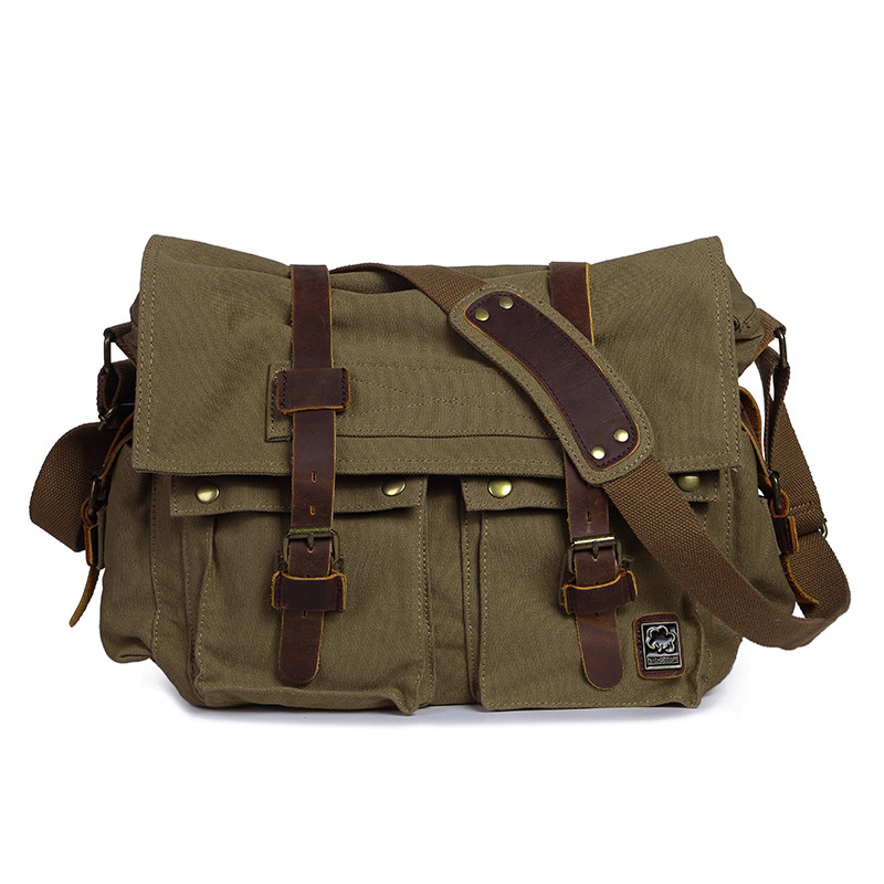 Hommes Vintage toile école sacs à bandoulière 2018 nouveauté mode haute qualité rétro ordinateur portable messenger sacs pour voyage