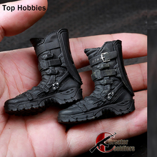 1:6 Scale Military Soldiers Falcon Combat Boots Toy Shoes With Joint feet for 12 Dolls Male Phicen Action Figures Not HT