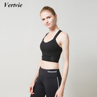 Vertvie Women Pofessional Shakeproof Yoga Bra Push Up Breathable Sports Bra Crop Top Kinds Halter High