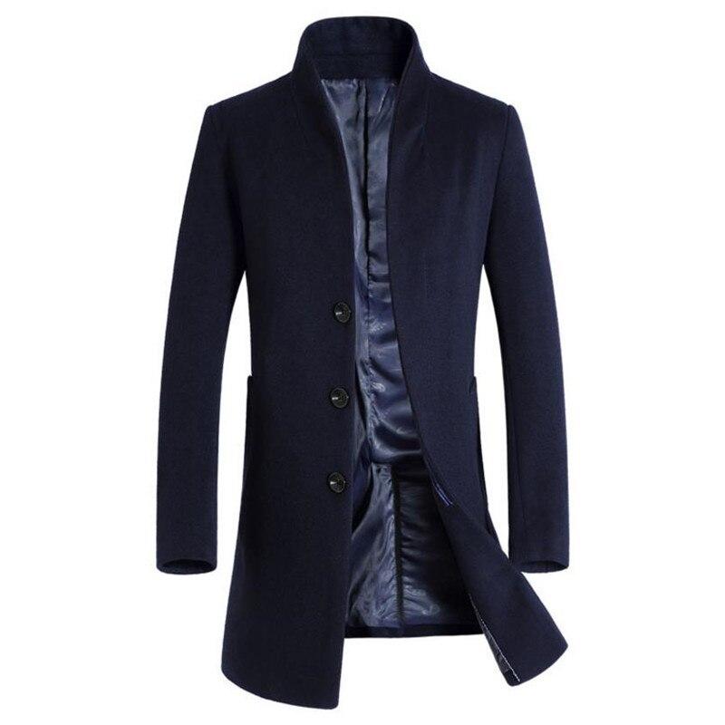 hot autumn and winter men's jacket business csual cket Men's coat Slim long section Overcoat