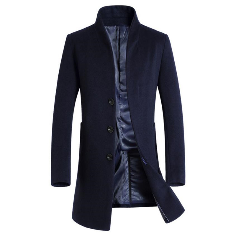 horké podzimní a zimní pánské bundy podnikání csual cket Pánský kabát Štíhlá dlouhá část kabát