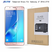 9H Tempered glass For Samsung Galaxy J7 2016 J710 Screen Protect smart phone Protective Film retail packing Free shipping цена 2017