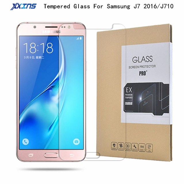 9H Tempered glass For Samsung Galaxy J7 2016 J710 Screen Protect smart phone Protective Film retail packing Free shipping