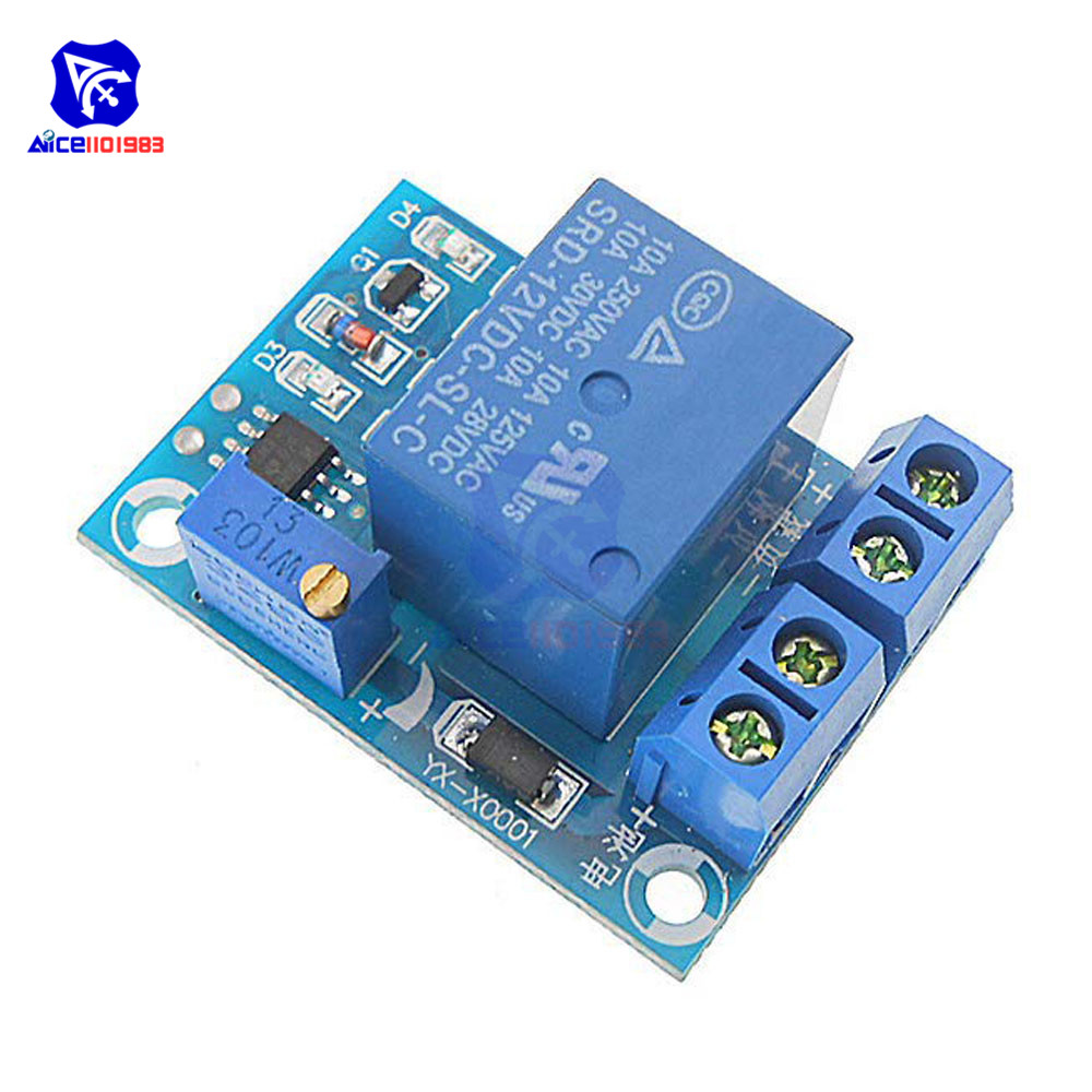 DC 12V Battery Undervoltage Low Voltage Cut Off Automatic Switch Recovery Protection Module Charging Controller Protection Board