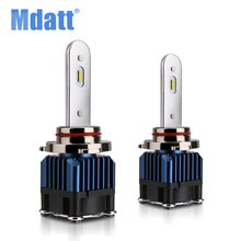 Mdatt 2Pcs H1 H7 LED Canbus H4 Led פנס נורות H3 H8 H11 9005 & 9006 רכב אור 50W 12000LM 6000K 12V 24V רכב פנס(China)
