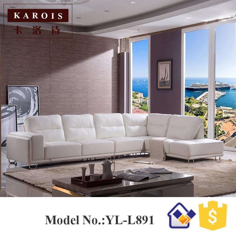 L891 fabbrica all\'ingrosso moderna nero bianco divano in pelle ...