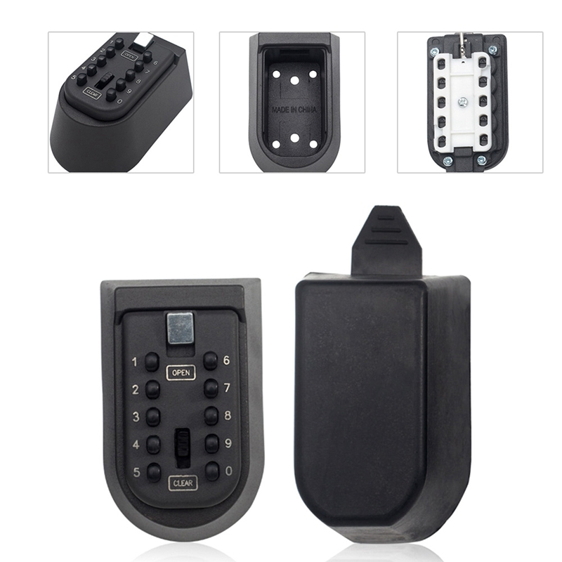 1 pcs Black Security key Locker Outdoor Combination Hide Key Safe Lock Box Storage Wall Mounted