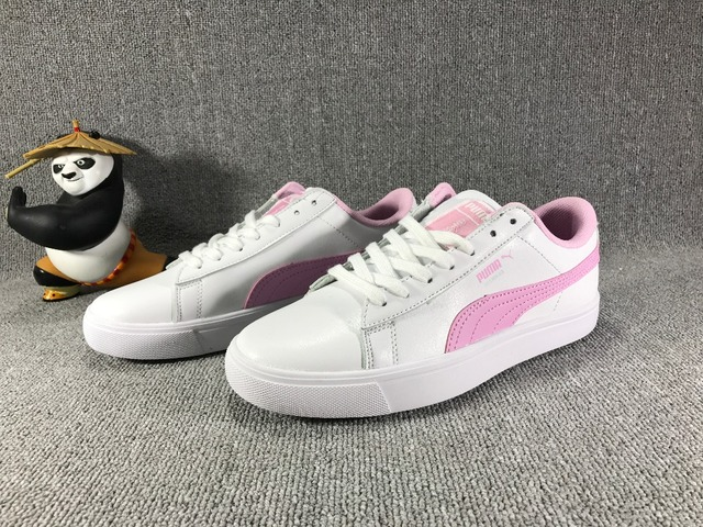 on sale 7e3de 934f8 US $57.14 10% OFF|The new PUMA X BTS COURT STAR Korea woman Cadet shoes  pink plates series leisure badminton shoes-in Badminton Shoes from Sports &  ...