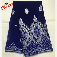 Classical Beautiful Design Velvet Lace With Wonderful Colors Sequins B8V1,High Quality Class Embroidered Soft Cotton Lace Fabric