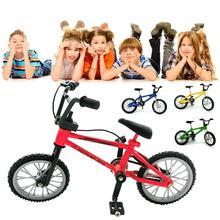 Mini Ujj Bmx Játékok Mini Kerékpár Mountain Bike Fan érdeklődés Játékok Gyűjtemények Decor With Brake Red