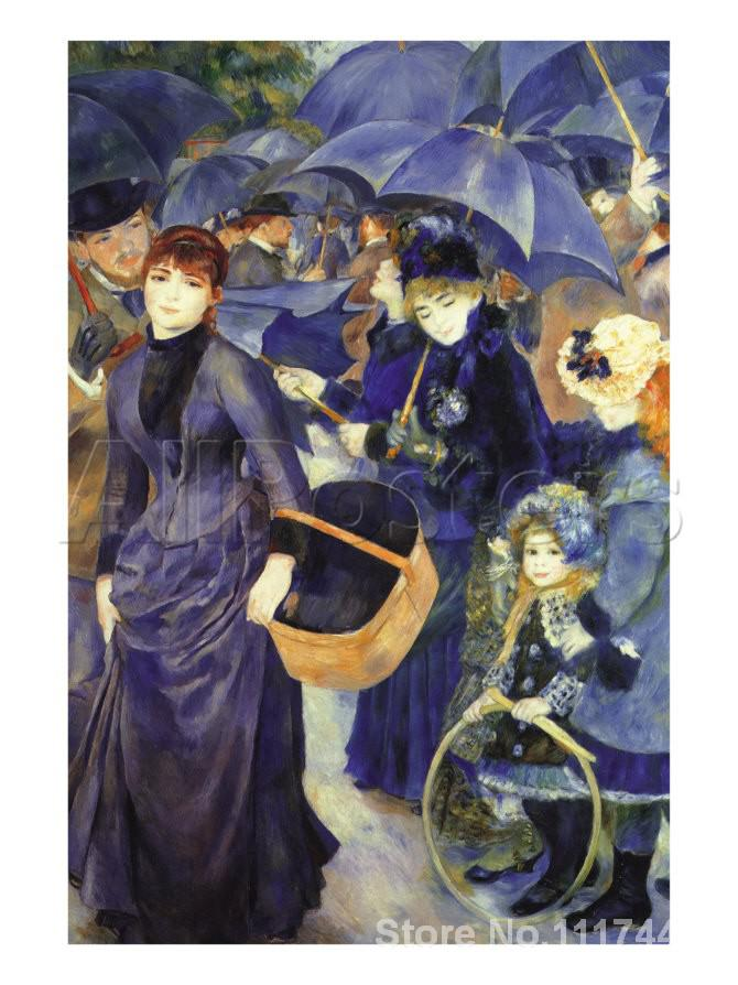 Christmas Gift The Umbrellas by Pierre Auguste Renoir paintings famous modern art High quality HandmadeChristmas Gift The Umbrellas by Pierre Auguste Renoir paintings famous modern art High quality Handmade