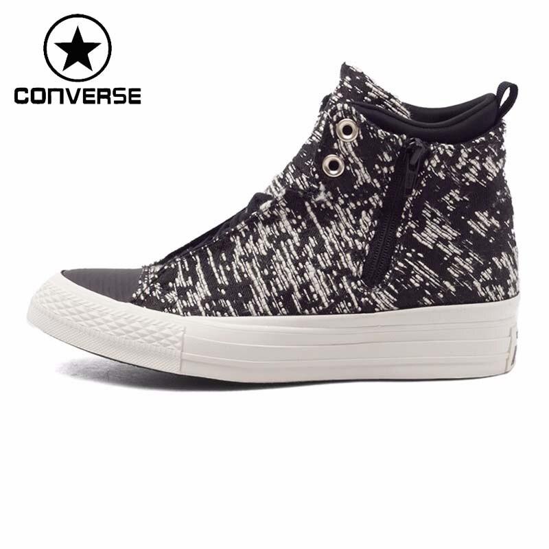 Chaussures de skate haut femme Converse originales baskets toile