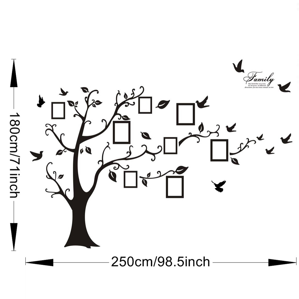 Jolly Black Wall Art Photo Frame Memory Tree Wall Stickers Home Decor Family Treewall Wall Stickers From Home Garden On Alibabagroup Black Wall Art Photo Frame Memory Tree Wall Stickers Home Decor