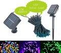 2 UNIDS Lámparas Solares cadena 12 M 100 LED de Secuencia de Hadas Luces de Energía Solar Al Aire Libre Impermeable de la Iluminación Para La Decoración Del Jardín