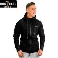 Newest Men Cotton Hooded Sweatshirt Autumn Winter Gyms Fitness Workout Hoodies Casual Brand Sportswear Man Pullover