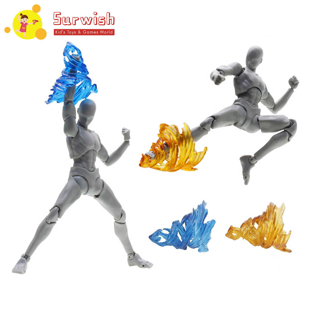 Surwish Model Whirlwind Kick Effect Decoration Whirlwind Model For General Scale Model - Transparent 7 Color