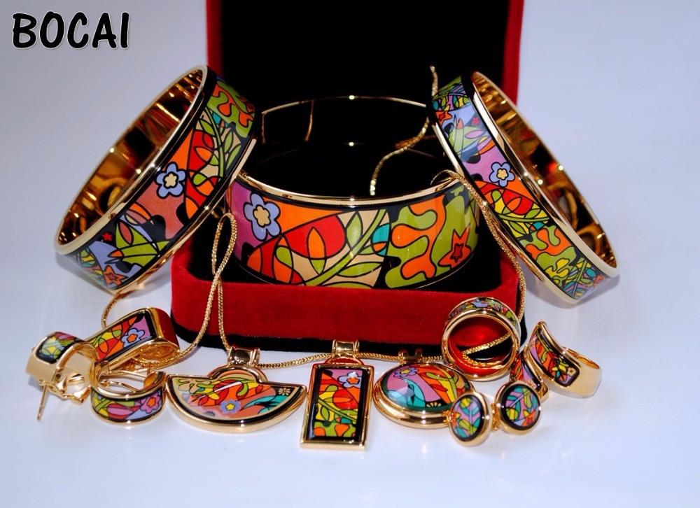 012 Cloisonne enamel jewelry European and American style 4pcs sets cloisonne jewelry enamel round ring european and american style