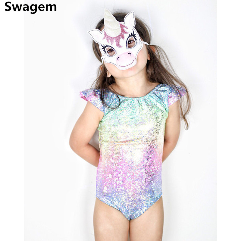 1-4 Years Baby   Romper   Girls Cute Rainbow Sequin Cotton   Romper   Baby Girls Unicorn Jumpsuit Kids Clothing D0268
