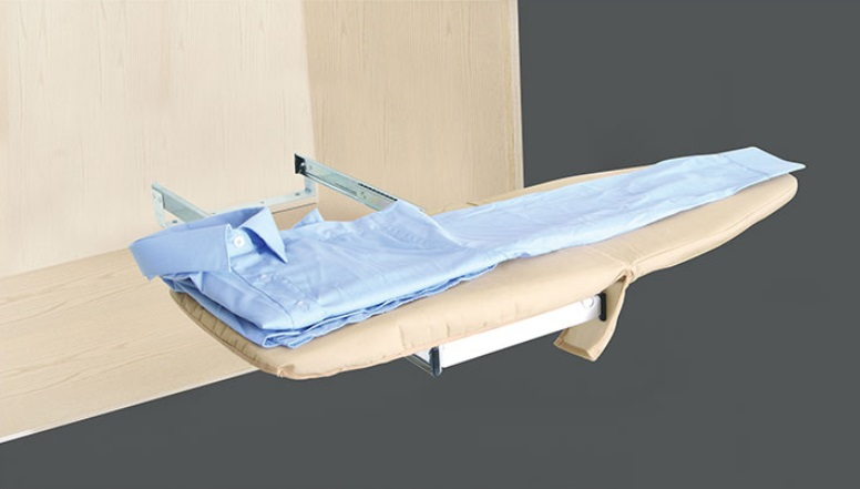 Slide Out Fold Down Rotatable Ironing Iron Board Closet