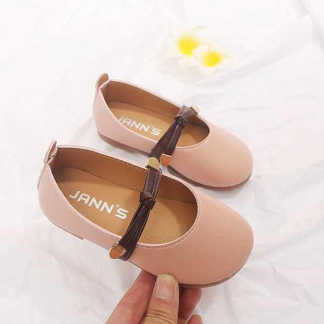 Autumn 2018 new kid wedding shoes flat super perfect girls princess school casual shoes Super soft and comfortable 1-8 years old Girl's Shoes