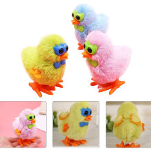 Random Color Plush Chick Cute Toys Baby Childrens Glasses Toy Clockwork