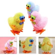 Random Color Plush Chick Cute Toys Baby Childrens Glasses Toy Clockwork