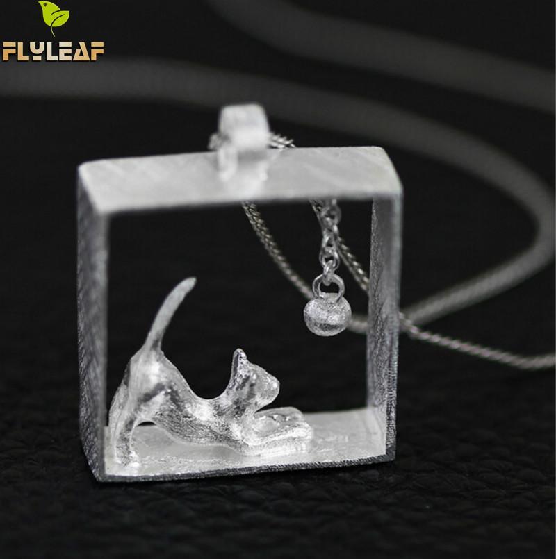 Flyleaf 100% 925 Sterling sølv katte halskæder & vedhæng til - Mode smykker - Foto 3