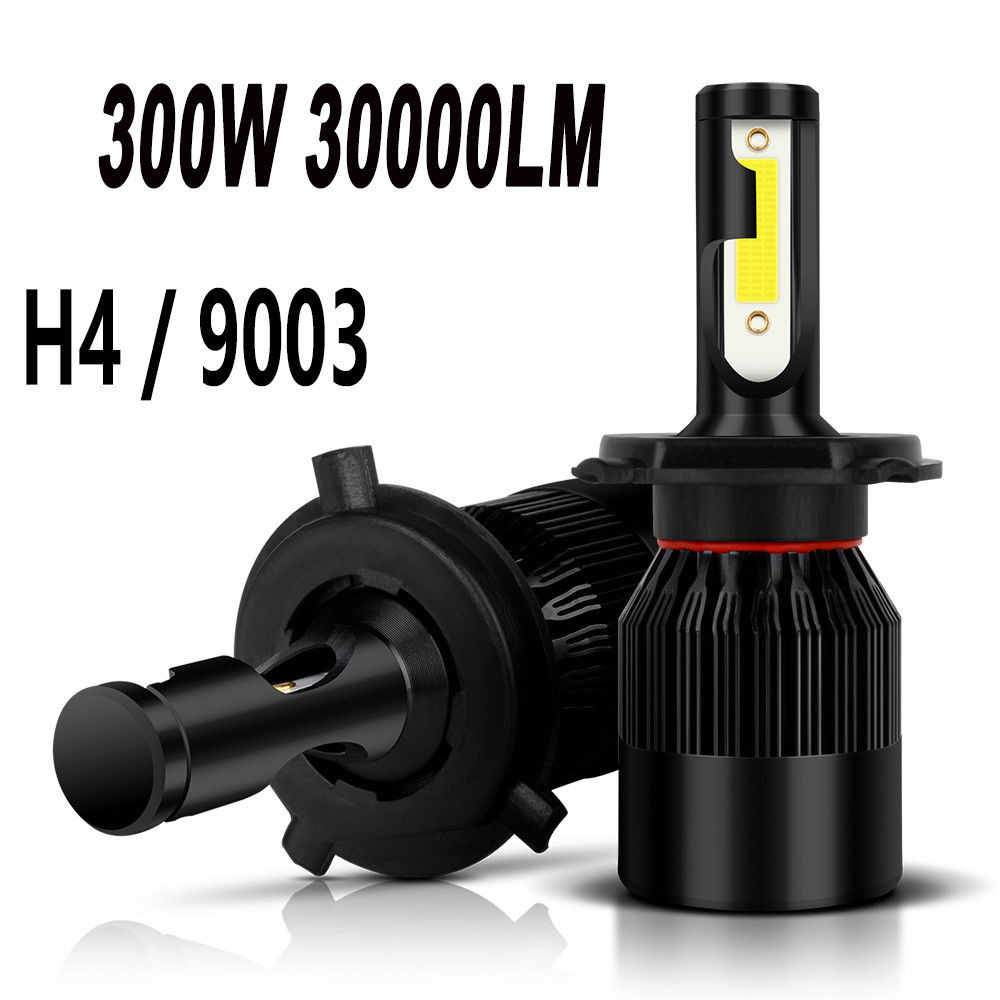 Kongyide รถ 300W 30000LM 9003 H4 6000K LED Combo High Beam dropship 19j17