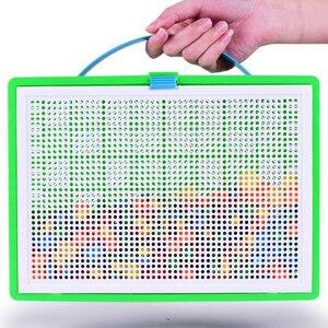 Image 4 - Lantiger 296pcs פטריות ציפורניים אינטליגנטי 3D משחקי פאזל DIY פטריות ציפורניים פלסטיק Flashboard ילדי צעצועים חינוכיים צעצוע