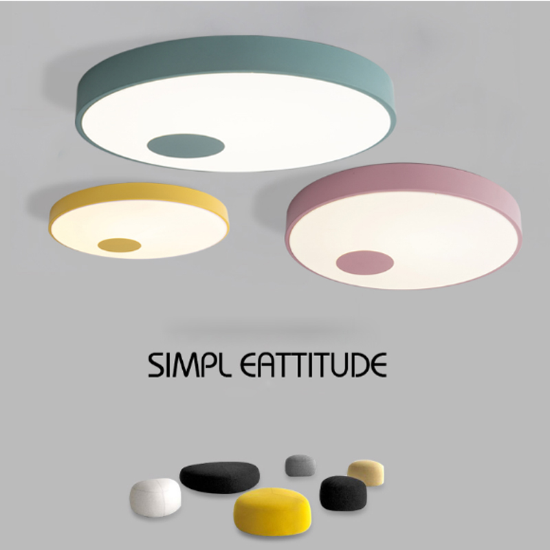 ZYSimple colorful Small Ceiling For Children Bedroom Bathroom Kitchen Corridor Aisle Modern Lamps 2 color Home lighting DHL Free acrylic minimalist modern led ceiling lamps kitchen bathroom bedroom balcony corridor lamp lighting study