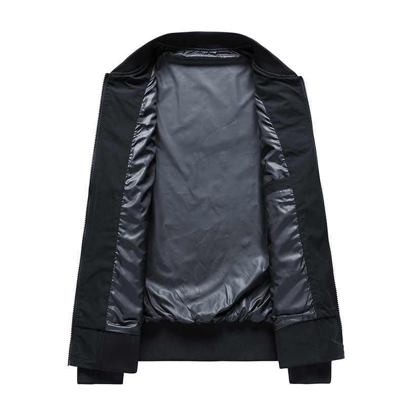 男性カジュアル春秋ジャケット爆撃機ジャケット男性コートファッションジッパージャケット新ブランドスポーツマンオーバーコート 2019 ヒップホップの服