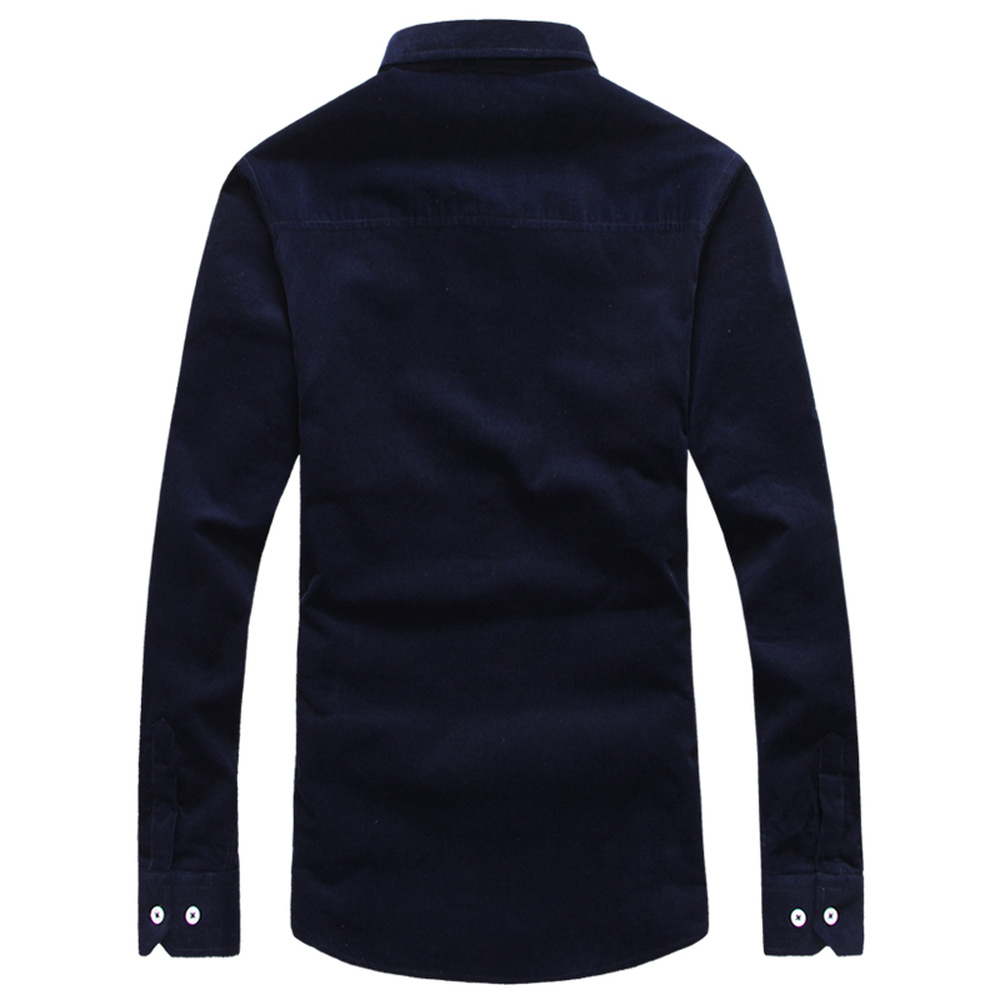 Color mood NEW Casual Shirts Male Mens Clothing Long Sleeve Social Slim Camisa Masculina Solid Color XXXL 011