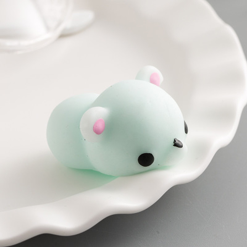 2Pcs/Lot Squishy Green Bear Squishy Mochi Antistress Cute Squeeze Healing Fun Kids Kawaii Kids Adult Toy Stress Reliever Decor