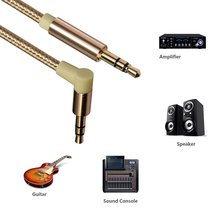 Aux Cable  Electric Guitar Cable  Audio Cable 3.5 Mm Jack Speaker Cable  Right Angle Plug For Xiaomi Redmi 5 Plus Aux Cord цена и фото