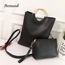 Arsmundi Women Fashion Messenger Bag Shoulder Large Ladies Handbag Ring Folding Master Day Clutches Envelope Bags