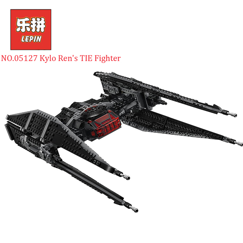 Lepin 05127 705Pcs Star Wars Kylo Ren's TIE Fighter Set Legoing 75179 Building Blocks Bricks Educational Children Toy Model Gift new 1685pcs lepin 05036 1685pcs star series tie building fighter educational blocks bricks toys compatible with 75095 wars