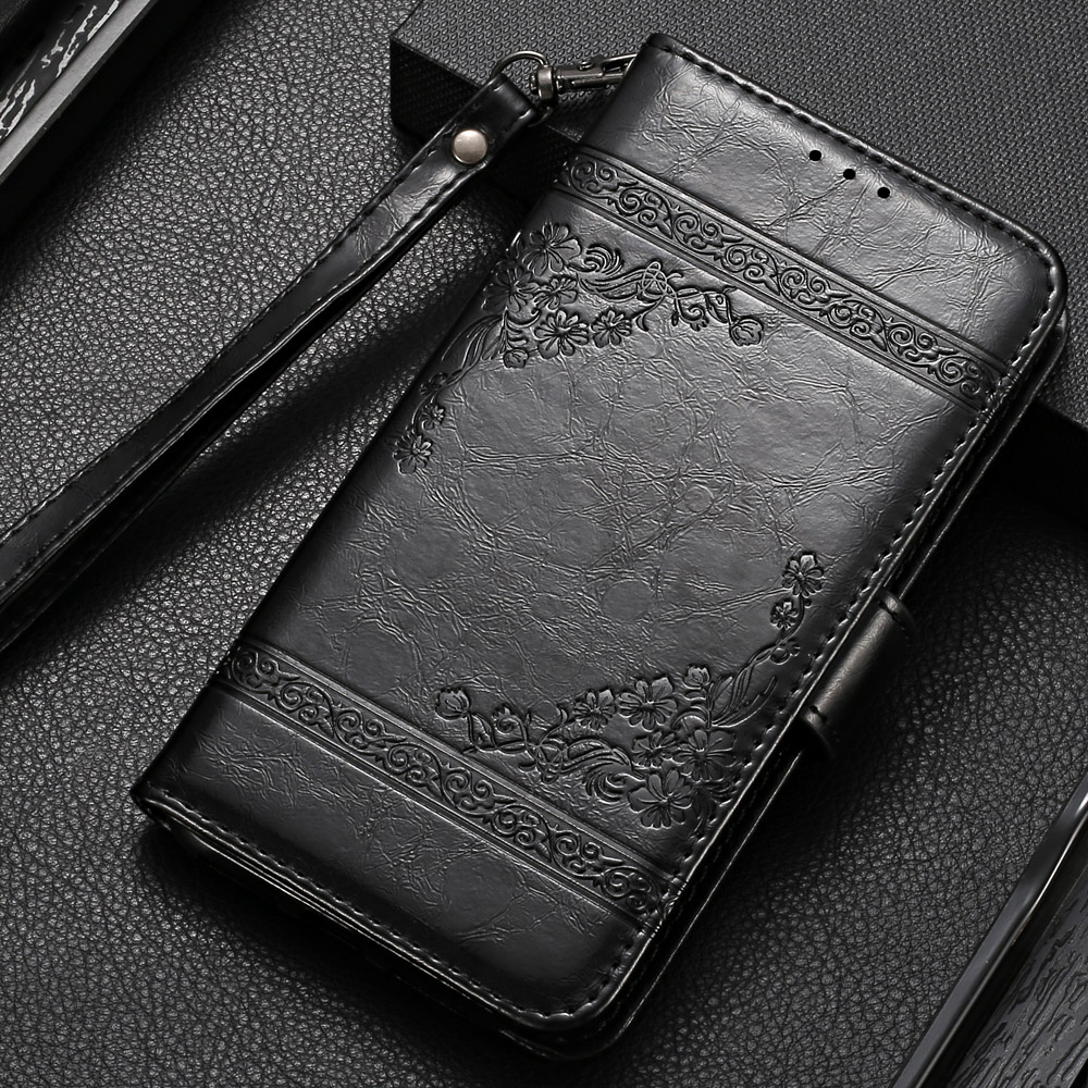 Vintage Wallet Flip Case for Vertex Impress Star Case with Strap Stand Luxury PU Leather Cover Case Fundas