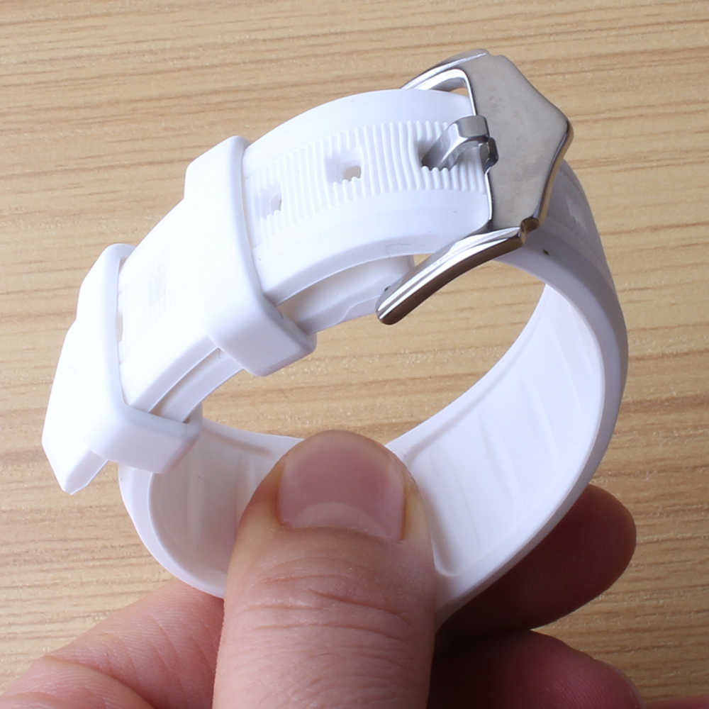 16mm 18mm 19mm 20mm 22mm 24mm Watchbands soft White Available Mens womens new Silicon Rubber Waterproof Divers Watch Strap Band