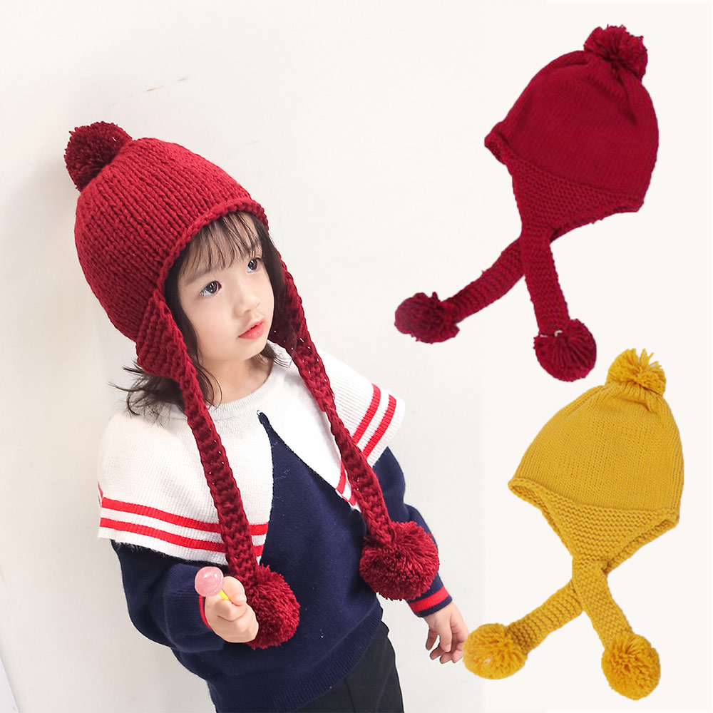 Baby Winter Hat Boys Girls Ball Hat Kids Warm Knitted Hat Children Beanie  Cap Fashion Cute Infant Cap 2-4T 82e3dad70d5