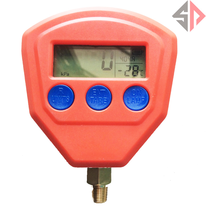 SP Digital LCD Display High Low Pressure Gauge Set for Automotive A/C Air Conditioning Refrigerant R134a R22 R404A R410A R407C R high quality 1pc 1 4 h l r410a r134a r22 pressure gauge stainless steel for air conditioning refrigerant manifold gauge red blue