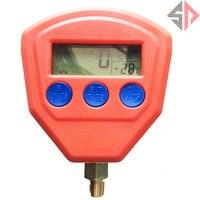 SP Digital LCD Display High Low Pressure Gauge Set for Automotive A/C Air Conditioning Refrigerant R134a R22 R404A R410A R407C R