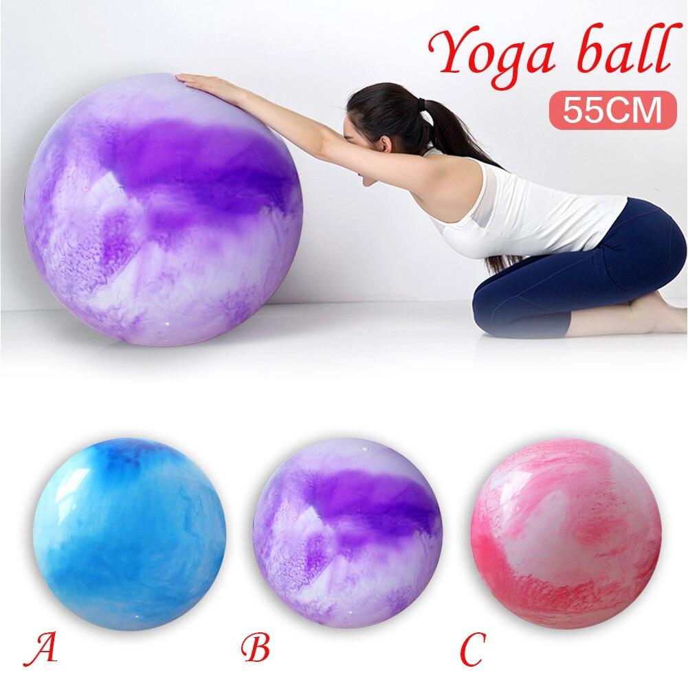 Sports Yoga Balls Bola Pilates Fitness Gym Balance Fitball Exercise Pilates Workout Massage Ball 55cm