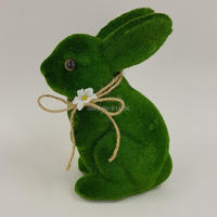 1pc Green Bunny Easter Plastic Rabbit Cute Spring Decoration