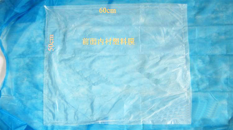 5pcs Blue non-woven surgical gown scrub suit clothing antibiotic medical wear