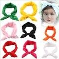Venda quente!! Sweet Girl Crianças Bow Hairband Turbante Nó Coelho Da Criança do bebê Headband Headwear Para Meninas